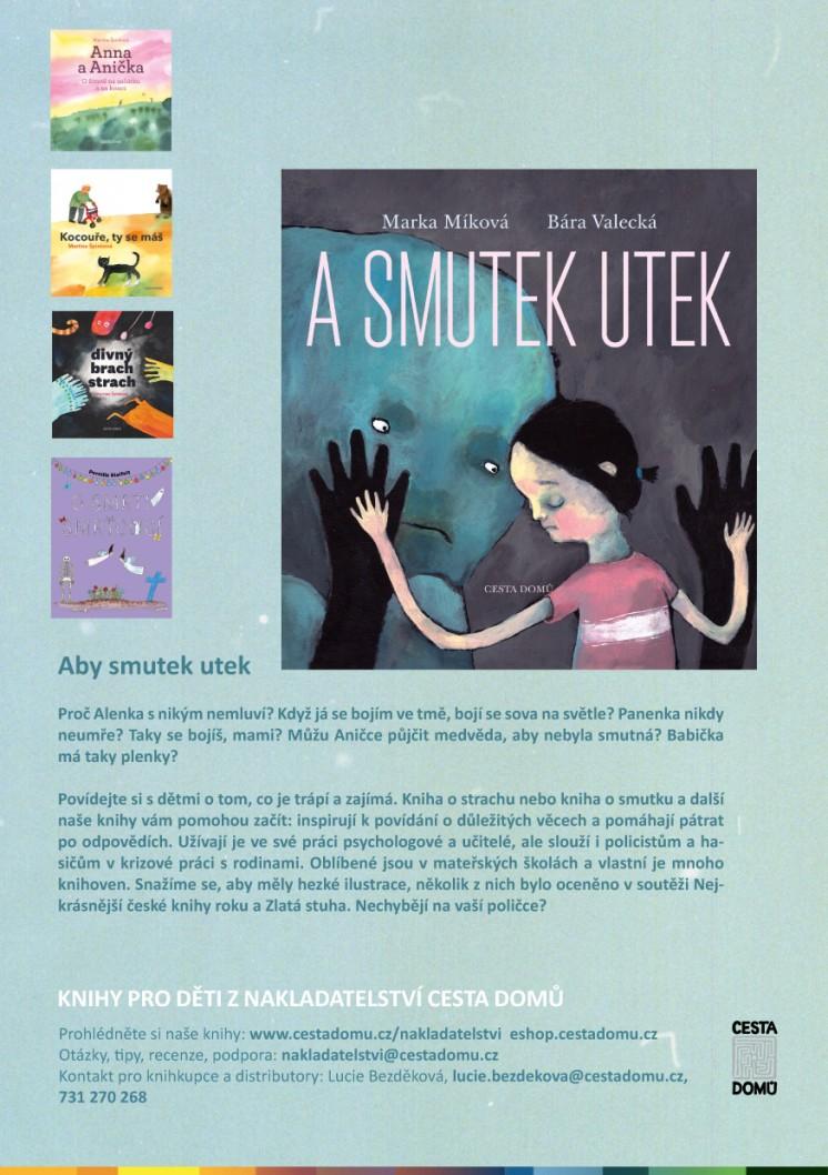 Leták dětské knihy nakladatelství Cesta domů leták
