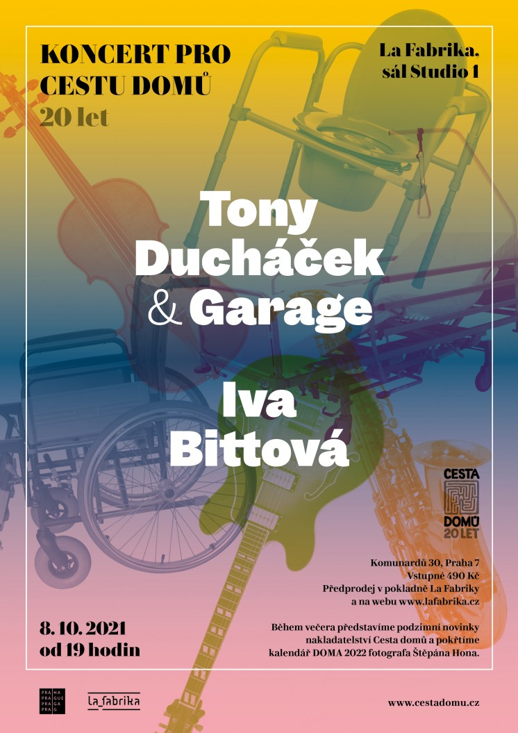 Koncert pro Cestu domů 2021_Tony Ducháček a Garage a Iva Bittová a Vladimír Václavek
