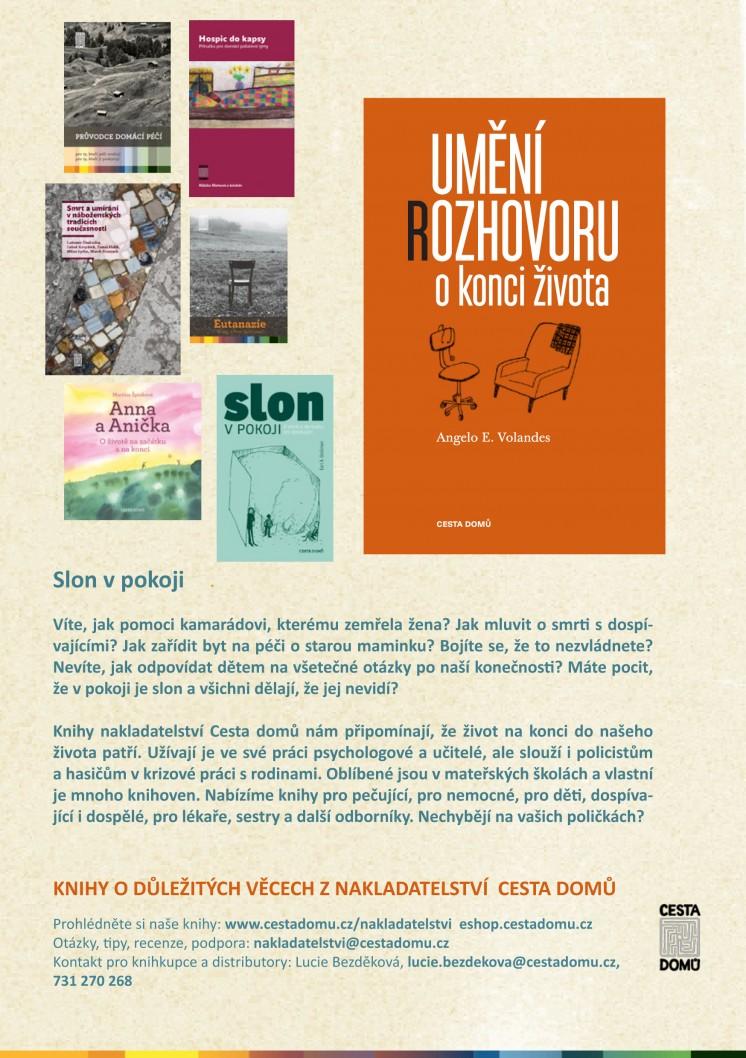 Leták knihy pro dospělé nakladatelství Cesta domů