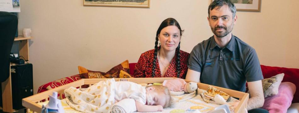 Šárka a Jozef Forgáčovi s dcerou Aničkou   foto Daniela Dahlien Neumanová