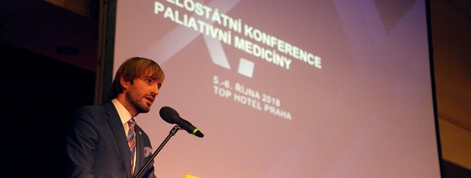 Zahájení X. celostátní konference paliativní medicíny - ministr zdravotnictví Adam Vojtěch