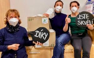 Na jaře 2020 jsme dostali darem nedostatkové respirátory pro zdravotníky.