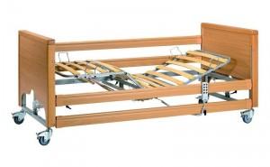 polohovací lůžko | vnější rozměry lůžka: 215 x 102 cm | rozměr matrace: 200 x 90 cm | součástí lůžka jsou hrazda, postranice a základní molitanová matrace | nosnost: 135 kg