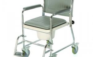 WC židle pojízdná | lze využít i pro ježdění po bytě | nosnost: 125 kg