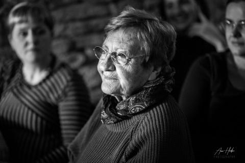 Helena Kadečková při uvedení knihy Advent v roce 2017, foto Anna Hladká Vašicová